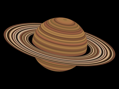 Tiny Saturn 🪐 tinycode planet javascript