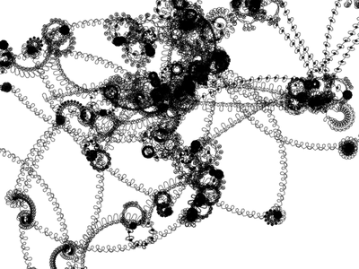 Abstract Doodles in 1 line of JavaScript fractal abstract tinycode generative javascript