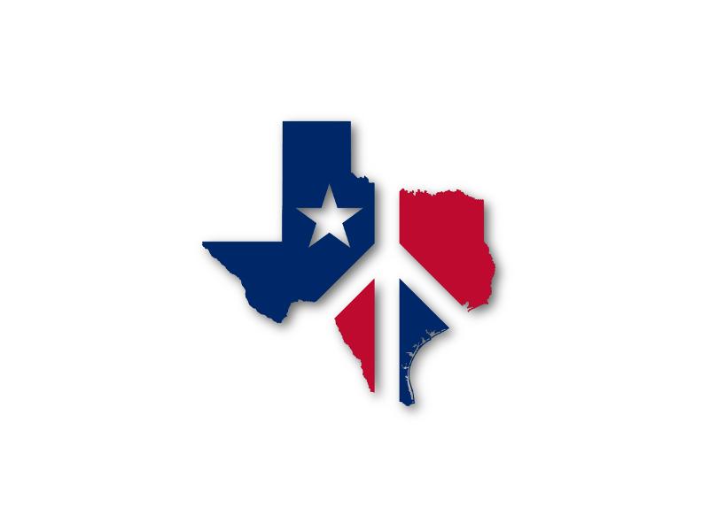 Texas Peace Logo logo peace texas