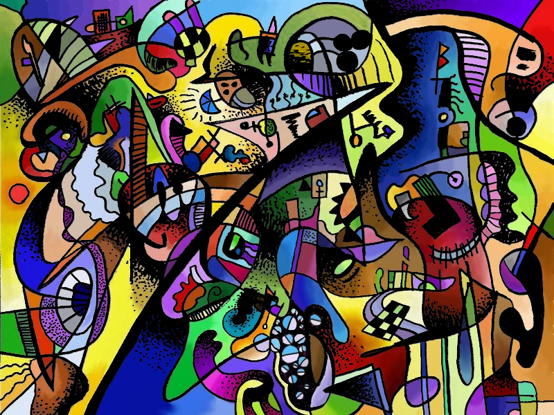 Dreams of a Future Wonderland doodle sharpie abstract