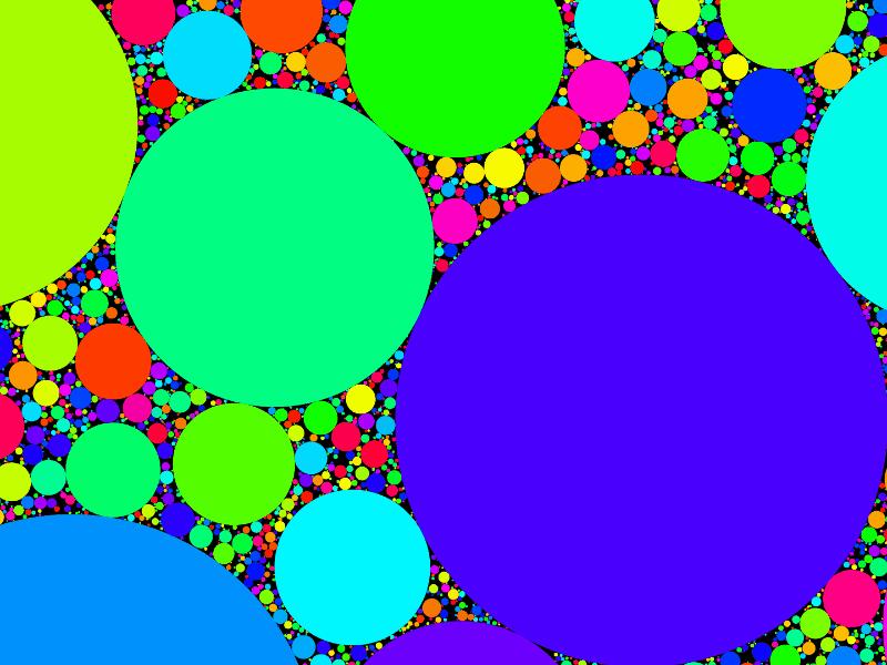 Random Non-overlapping Circles generative geometry design javascript