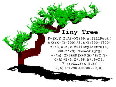 Tiny Tree with Shadow
