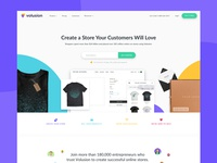 Volusion Homepage Redesign 2017