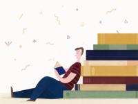 200 Books A Year Illustration