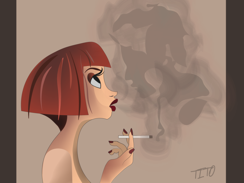 Smoke design identity branding illustrator minimal illustration