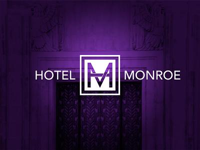 Hotel Monroe overlap typography icon monogram identity brand logo boutique hotel hospitality concept phoenix