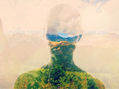 Skye Canyon You're getting Close Don't Turn Away photoshop manipulation double exposure texture typography skye canyon las vegas nevada social media cover photo