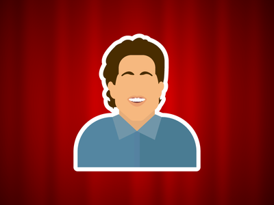 What's the deal with Jerry Seinfeld. illustration vector portrait seinfeld jerry seinfeld comedy flat comedian blog webpt