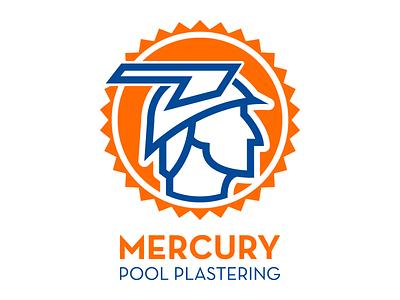 Mercury Pool Plastering illustration vector logo design graphic design pool sun god mercury arizona phoenix roman