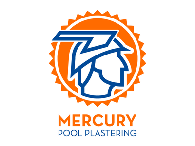 Mercury Pool Plastering illustration vector logo design graphic design pool sun god mercury arizona phoenix roman