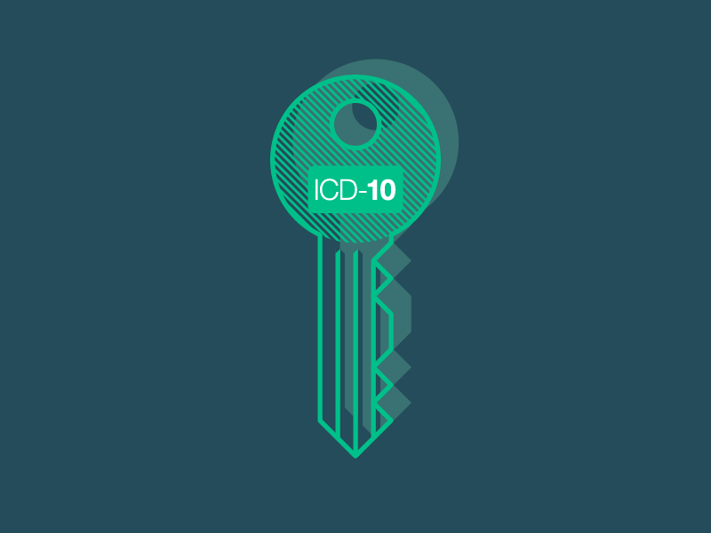Don't Let ICD-10 and Direct Access Bug You - Key security access lock key line icd10 icon webpt blog flat vector illustration