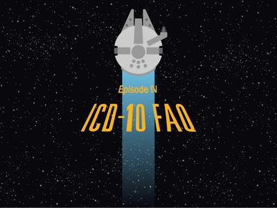ICD-10 FAQ Part 4 blog ship star spaceship icon space millennium falcon star wars icd10 webpt vector illustration