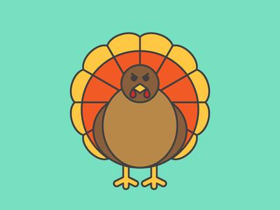 It's an ICD-10 Thanksgiving - Evil Turkey icd10 november bird animal icon evil holiday turkey blog webpt vector illustration