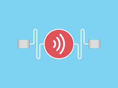 Can You Hear Me Now? sound speak communication hear listen feedback can tin can blog webpt vector illustration