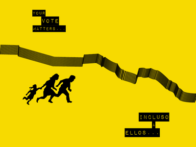 AIGA - Get Out The Vote - Your Vote Matters... graphic design layout border arizona america vote vector illustration poster aiga