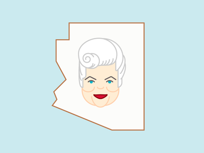 You'll Always Be The First... character portrait government woman phoenix politics rip arizona flat simple vector illustration