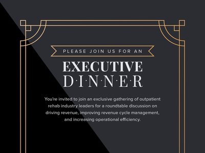 Executive Dinner Invite dinner luxury executive card invitation print invite webpt
