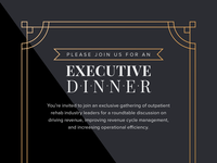 Executive Dinner Invite dinner luxury executive card invitation print invite webpt