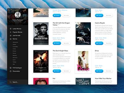 Stream Movies (desktop app) app desktop app ui ux entypo