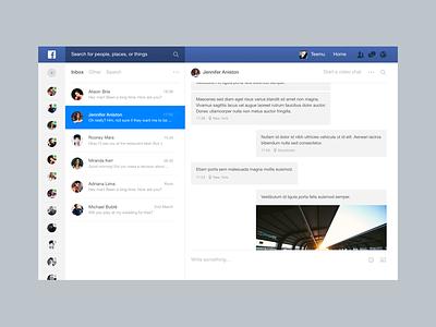 Facebook Messages facebook messages chat web ui gui