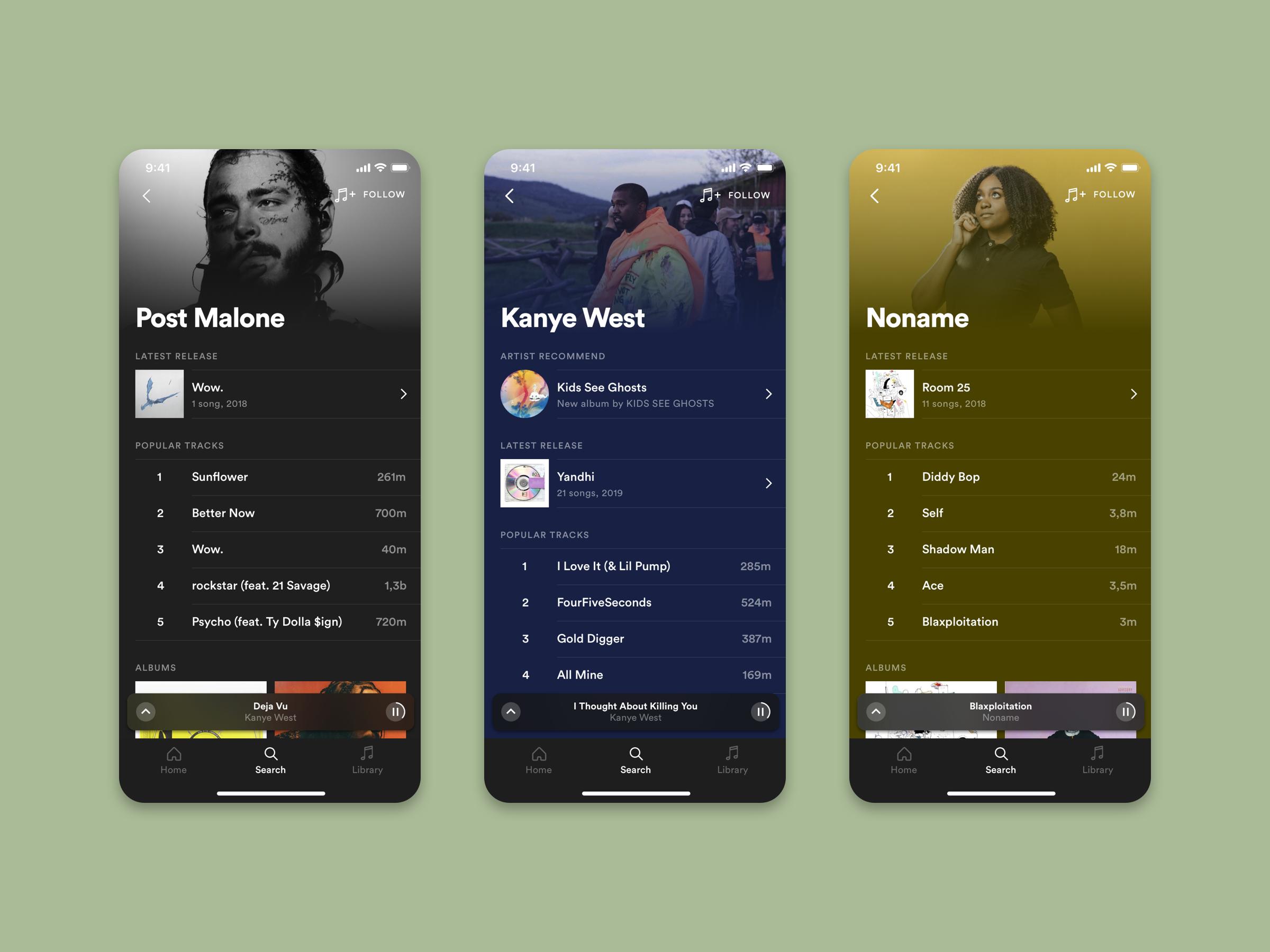 Spotify meets iOS 9 Apple Music by Teemu on Dribbble