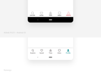 AirBnB Menu Redesign android tab bar ux redesign app ui airbnb
