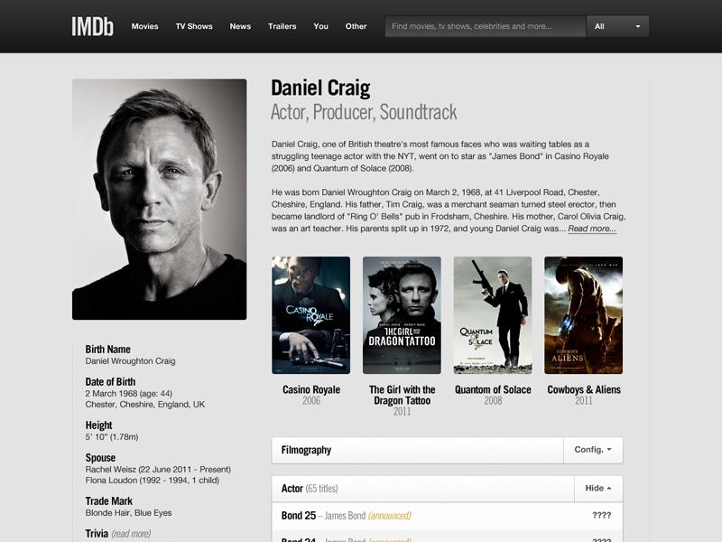 IMDb 2 0 by Teemu on Dribbble