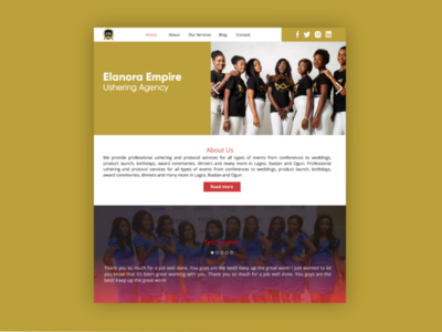 Ushering Agency Web Interface