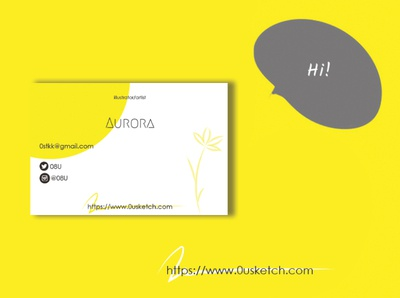 Fictional business card. (Back side)