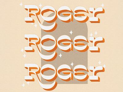 Roger typogaphy vibes retro design monogram letter retro icon vector art vector illustration design adobe illustrator adobe photoshop