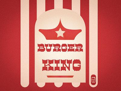 Burger King vintage vector illustration guiltypleasure rebranding 80s retro font retro burgerking burger typography branding logo adobe photoshop design