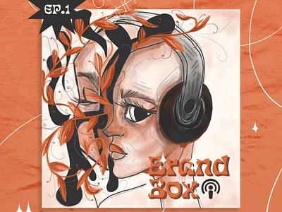 Brand Box vintage retro cover podcast art illustraion vector illustration adobe illustrator design adobe photoshop