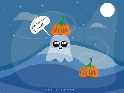 Haloween Time! pumpkin nightsky vector illustraion vector art design adobe photoshop vector illustration adobe illustrator