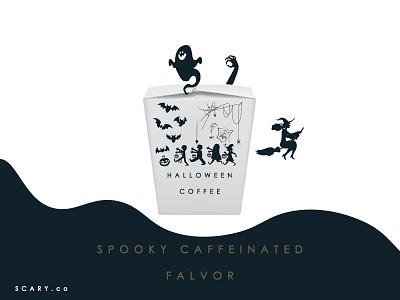 Scary Coffee illustration icon design adobe photoshop