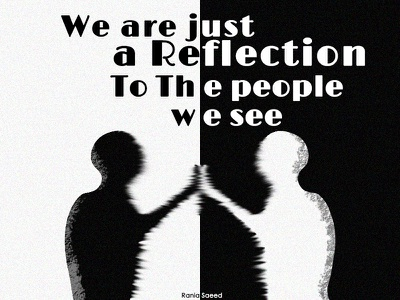Reflection designs black and white people reflection art illustraion vector art vector illustration design adobe photoshop