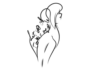 Let go of toxic people. concept art lineart calligraphy black and white art vector art design adobe illustrator adobe photoshop