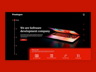 Digital agency website design | Day 01
