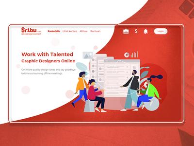 Landing Page Sribu (dot) com