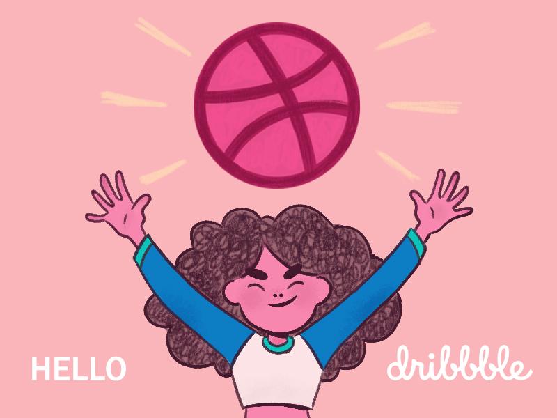 Hello Dribbble hello dribble debut illustration