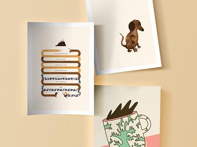 Ilustrafun collage art design art vector character design illustration characters design wip animation malacostra