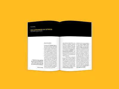 Larga trayectoria theatrical fonts education dramaturgy editorial design book design malacostra design