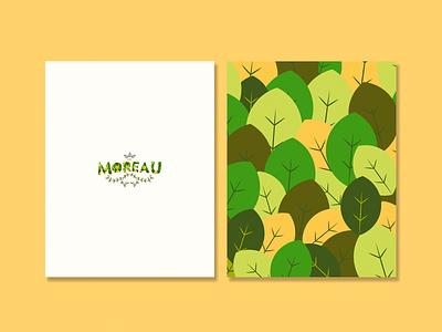 Moreau logo collage art design art ai wip vector branding illustration design malacostra