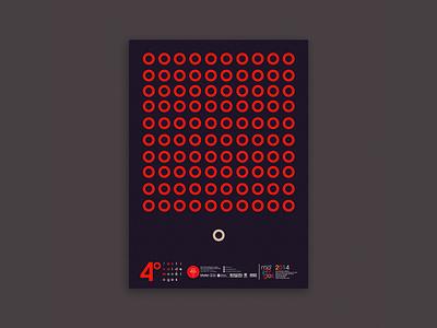 Monologue festival orange symetry geometric design theatre design vector wip ai poster design malacostra minimalist