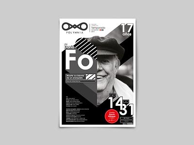 Dario Fo typography logo poster design branding design art collage art design ai wip malacostra