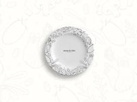Anna & Otto restaurant branding logo branding ai wip design design art vector illustration malacostra