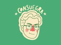 David Consuegra: from Bucaramanga with love sticker ai vector illustration malacostra