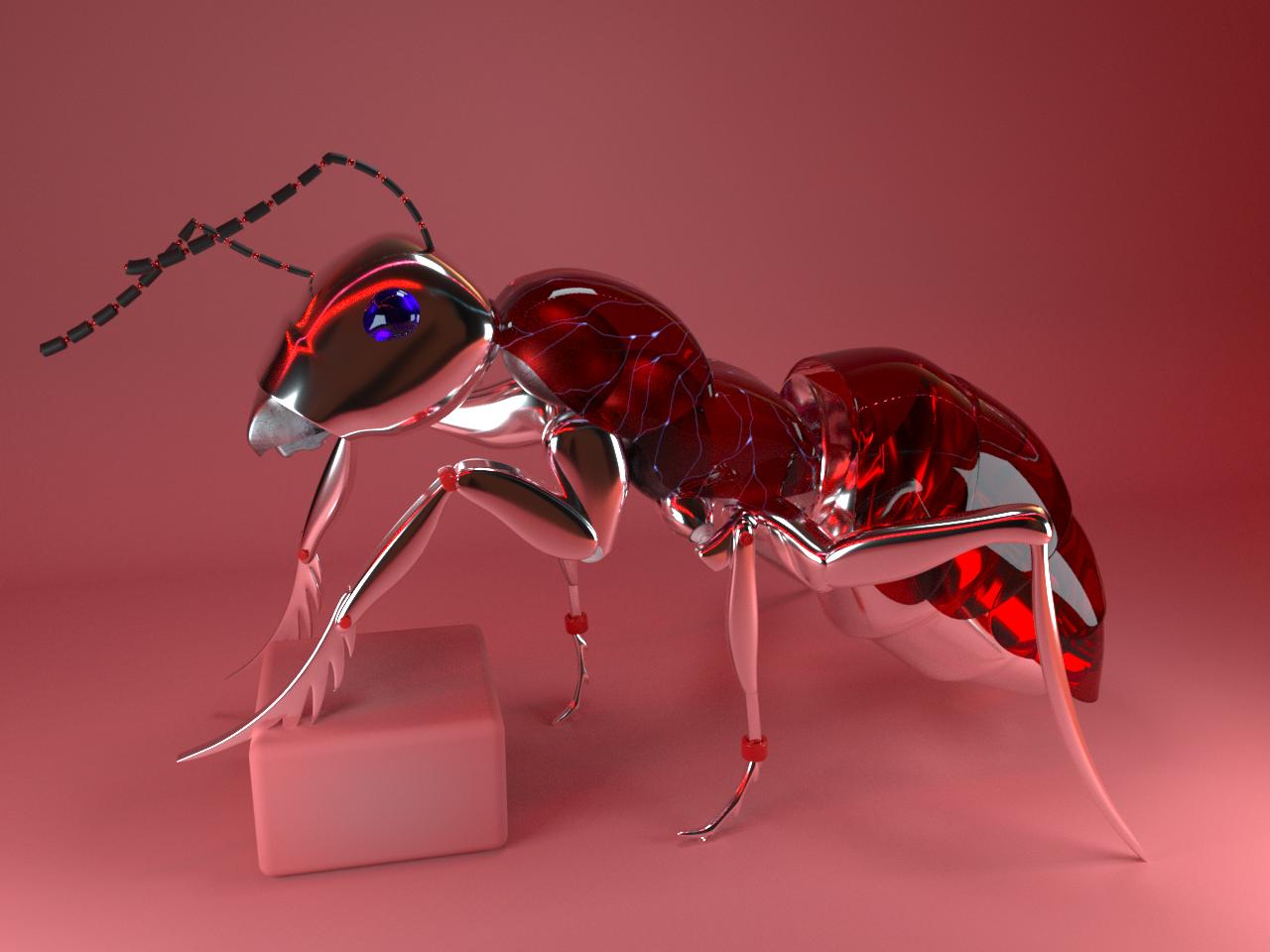 2.Ant animal art machine c4d