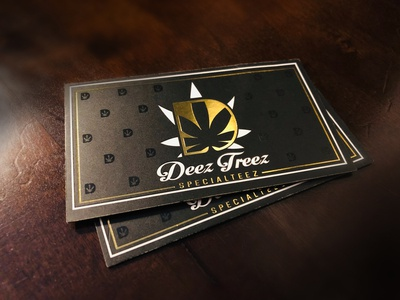 Deez Treez logo and cards