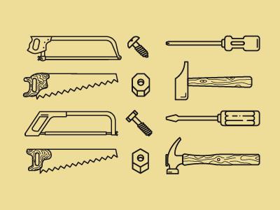 Tools, nut & bolt icons nounproject tools nut bolt hammer screwdriver saw