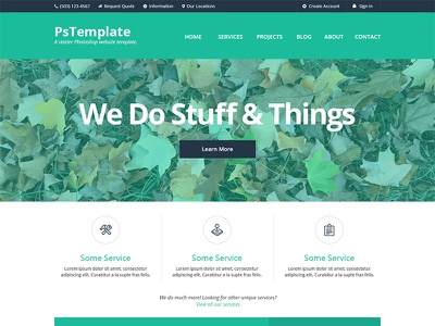 PsTemplate Example colors flat trendy minimal clean simple modern